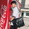 Pre-order กระเป๋าผู้ชาย Messenger สะพายข้างผู้ชาย ใส่ ipad แฟขั่นเกาหลี รหัส Man-6540 สีดำใหญ่