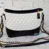 พร้อมส่ง DB-0564-2L สีขาว กระเป๋าสะพายแฟชั่นสไตล์ CN gabrielle สายโซ่ทูโทน ไม่ปั๊มแบรนด์*มึถุงผ้า