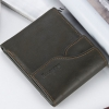 พร้อมส่ง กระเป๋าสตางค์ใบสั้นผู้ชาย นักธุรกิจ แฟชั่นเกาหลี ยี่ห้อ baellerry รหัส BA-D129-1 สีดำ 1 ใบ *ไม่มีกล่อง