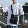 พร้อมส่ง กระเป๋าผู้ชายสะพายข้าง สะพายลำรอง ใส่ Tap 10 นิ้ว แฟชั่นเกาหลี รหัส Man-7736 สีดำ 2 ใบ