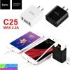 ที่ชาร์จ Hoco Cool double port charger C25 (2.2A) ราคา 210 บาท ปกติ 525 บาท