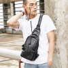 Pre-order กระเป๋าคาดอก คาดไหล่ สะพายไหล่ ผู้ชายแฟชั่นเกาหลี รหัส Man-5227 สีดำ