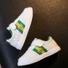 รองเท้ากีฬาPU#แบบแปะเมจิกเทป#แถบธงเมเปิ้ล สีเขียว