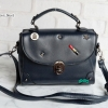 พร้อมส่ง HB-4247 สีน้ำเงิน กระเป๋านำเข้าแฟชั่นเกาหลีแต่งอะไหล่ Cosme-Fun