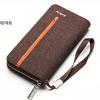พร้อมส่งกระเป๋าสตางค์ผ้าใบยาวซิปรอบ คลัทซ์และใส่โทรศัพท์ iphone6 แฟชั่นเกาหลี ยี่ห้อ baellerry รหัสBA-S1523 สีน้ำตาล 1 ใบ *ไม่มีกล่อง