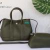 พร้อมส่ง DB-2963 สีเขียวมะกอก กระเป๋าแฟชั่นสไตล์ HM garden party หนัง PU นุ่มคืนทรง มีถุงผ้าไม่ปั๊มแบรนด์ ไม่รวมผ้าพันหู
