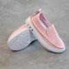 รองเท้าเด็กหนัง PU#เรียบแต่เก๋#แบบสวม#ใส่ง่าย สีชมพู