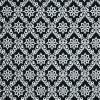 ผ้าลายไทย LT0033_bw ขาวดำ