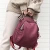 พร้อมส่ง กระเป๋าเป้สะพายหลังผู้หญิง แฟชั่นเกาหลี รหัส sunny-1039 สีแดง 1 ใบ