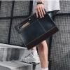 Pre-order กระเป๋าผู้ชายคลัทซ์ ใส่ ipad 8 นิ้ว มีสายสะพายข้าง แฟขั่นเกาหลี รหัส Man-8827 สีดำ