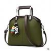 พร้อมส่ง ขายส่งกระเป๋าผู้หญิง แฟชั่นเกาหลี ถือและสะพายข้าง แถมจี้ตุ๊กตาผู้หญิง Yi-0903 สีเขียว 2 ใบ
