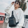 Pre-order กระเป๋าผู้ชายคาดอกคาดไหล่ สะพายลำรอง แฟชั่นเกาหลี ใส่ ipad 8 นิ้ว Messenger กระเป๋ากีฬากันน้ำ รหัส Man-7033 สีดำ