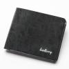พร้อมส่ง กระเป๋าสตางค์ใบสั้น กระเป๋าเงินหนัง กระเป๋าเงินแฟชั่นเกาหลี ยี่ห้อ baellerry รหัส BA-DR012 สีดำ 2 ใบ