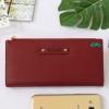 พร้อมส่ง รหัส P7599-25C สีแดงเข้ม กระเป๋าสตางค์ยาว Forever-young แท้ แต่งโลโก้แบรนด์