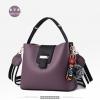 พร้อมส่ง กระเป๋าถือและสะพายข้างสตรี แฟชั่นเกาหลี รหัส KO-003 สีม่วง 1 ใบ*แถมป๋อม