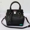 พร้อมส่ง MB-2921-A สีดำ กระเป๋าแฟชั่นสไตล์ HM-toolbox-20 อะไหล่สีเงินพร้อมแต่งแม่กุญแจ
