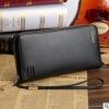 พร้อมส่ง กระเป๋าสตางค์ใบยาว คลัทซ์และสายคล้องมือ แฟชั่นเกาหลี ยี่ห้อ baellerry รหัส BA-S1217-4 สีดำ 1 ใบ*ไม่มีกล่อง
