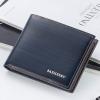 พร้อมส่ง กระเป๋าสตางค์ใบสั้นผู้ชาย นักธุรกิจ แฟชั่นเกาหลี ยี่ห้อ baellerry รหัส BA-BR005 สีน้ำเงิน 1 ใบ *ไม่มีกล่อง