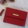 พร้อมส่ง รหัส L355-10 สีแดง กระเป๋าสตางค์ Forever young 2 พับสั้นแต่งป้ายโลโก้สีทอง