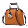 พร้อมส่ง ขายส่งกระเป๋าผู้หญิง แฟชั่นเกาหลี ถือและสะพายข้าง แถมจี้ตุ๊กตาผู้หญิง Yi-0903 สีน้ำตาลส้ม 2 ใบ