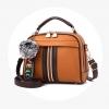 พร้อมส่ง กระเป๋าถือและสะพายข้างสตรี รหัส KO-320 สีน้ำตาลส้ม 1 ใบ*แถมจี้ป๋อม