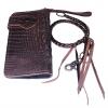 Pretty Genuine CowHide Leather in Pattern Of Crocodile Skin กระเป๋าทรงยาวอัดลายเป็นหนังจระเข้ดูเสมือนจริง80% งานสวย งานเนี๊ยบ