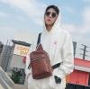 พร้อมส่ง กระเป๋าผู้ชายคาดอกคาดไหล่ สะพายลำรอง แฟชั่นเกาหลี ใส่ ipad 8 นิ้ว Messenger กระเป๋ากีฬากันน้ำ รหัส Man-7033 สีกาแฟ 1 ใบ