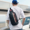 Pre-order กระเป๋าผู้ชายคาดอก สะพายลำลองแฟขั่นเกาหลี รหัส Man-2053 สีดำ