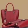 พร้อมส่ง ขายส่งกระเป๋าผู้หญิงถือและสะพายข้าง แฟชั่นเกาหลี Sunny-569 สีแดงเข้ม 1 ใบ