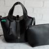 พร้อมส่ง DB-2925 สีดำ กระเป๋าแฟชั่นนำเข้าสไตล์ HM- Picotin ไซร์ 9 นิ้ว เย็บเนี๊ยบทุกจุด มีถุงผ้า ไม่ปั๊มแบรนด์