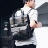 Pre-order กระเป๋าเป้สะพายหลัง เป้นักศึกษาผู้ชายกันน้ำได้ แฟชั่นเกาหลี หนัง PU รหัส Man-6526 สีดำ