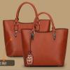 พร้อมส่ง ขายส่งกระเป๋าผู้หญิงถือและสะพายข้าง แฟชั่นเกาหลี Sunny-569 สีน้ำตาลอมส้ม 1 ใบ