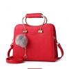 พร้อมส่ง กระเป๋าถือและสะพายข้าง หูหิ้วหรูคุณนายออกงาน แฟชั่นเกาหลี รหัส KO-155 สีแดง 1 ใบ *แถมป๋อมเพชร