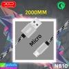 สายชาร์จ XO NB10 Micro (2 เมตร) ราคา 80 บาท ปกติ 230 บาท