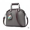 พร้อมส่ง ขายส่งกระเป๋าผู้หญิง แฟชั่นเกาหลี ถือและสะพายข้าง แถมจี้ตุ๊กตาผู้หญิง Yi-0903 สีเทา 1 ใบ