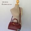 พร้อมส่ง HB-6016 สีไวน์แดง กระเป๋าแฟชั่นBirkin design พร้อมใบเล็ก ซับในหนังกลับอย่างดี