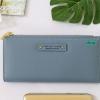 พร้อมส่ง รหัส P7599-25C สีฟ้า กระเป๋าสตางค์ยาว Forever-young แท้ แต่งโลโก้แบรนด์