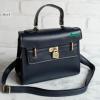 พร้อมส่ง HB-4245 สีน้ำเงิน กระเป๋าสะพายถือและสะพายข้างนำเข้า แต่งอะไหล่แม่กุญแจ