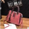 พร้อมส่ง ขายส่ง กระเป๋าถือและสะพายข้างแฟชั่นสไตล์เกาหลี รหัส KO-697 สีชมพูกะปิ 1 ใบ *แถมจี้รูปแมว