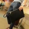 พร้อมส่ง กระเป๋าคลัทซ์ ใส่ Tap 10 นิ้ว มีสายคล้องมือ ลายสานซิปรอบแฟขั่นเกาหลี รหัส Man-9583 สีดำ 2 ใบ
