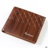 พร้อมส่ง กระเป๋าสตางค์ใบสั้นผู้ชาย นักธุรกิจ แฟชั่นเกาหลี ยี่ห้อ baellerry รหัส BA-BR017 สีน้ำตาลอ่อน 1 ใบ