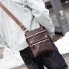 พร้อมส่ง กระเป๋าผู้ชายสะพายข้าง สะพายลำรอง ใส่ Tap 10 นิ้ว แฟชั่นเกาหลี รหัส Man-7736 สีน้ำตาล 1 ใบ