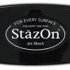 หมึกญี่ปุ่น-Staz On Ink Pads - Jet Black