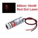 Adjustable Laser Tube 650nm 10mW - Dot Laser (แสงตกบนฉากเป็นจุดปรับความหนาได้)