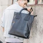 พร้อมส่งกระเป๋าใบหญ่สะพายไหล่ผู้ชาย กระเป๋าช้อปปิ้งแฟขั่นผู้ชายเกาหลี รหัส Man-8027 สีดำ 1 ใบ ไซร์มาตราฐาน