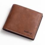 พร้อมส่ง กระเป๋าสตางค์ใบสั้น กระเป๋าเงินผู้ชาย หนัง แฟชั่นเกาหลี ยี่ห้อ baellerry รหัส BA-D3001 สีน้ำตาล 2 ใบ