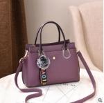 พร้อมส่ง กระเป๋าถือและสะพายข้างผู้หญิง แฟชั่นเกาหลี รหัส Yi-7103 สีม่วง 1 ใบ*แถมจี้ป๋อม