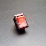 สวิตช์ไฟเปิด/ปิด 15x21mm Power Switch 2 ขา KCD1-101 สีแดง
