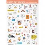 สติ๊กเกอร์ชุด : Birthday Bear stickers