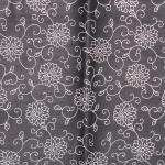 ผ้าถุงขาวดำ ec13043bk ลายดอก